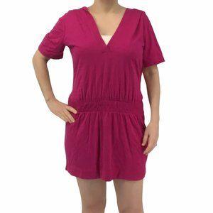 Speedo Pink Hooded Swim Beach Coverup Size Large